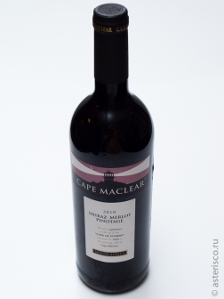 Cape Maclear, Shiraz, Merlot, Pinotage, Western Cape, South Africa, 2010